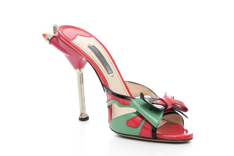 Prada Runway Patent Leather Tail Light Sandal, Spring 2012 For Sale 1