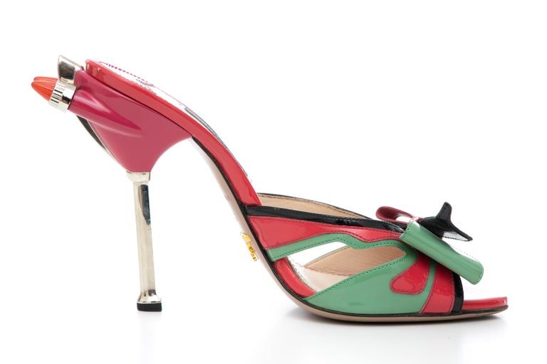 Prada Runway Patent Leather Tail Light Sandal, Spring 2012 For Sale 2