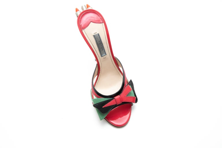 Prada Runway Patent Leather Tail Light Sandal, Spring 2012 For Sale 3