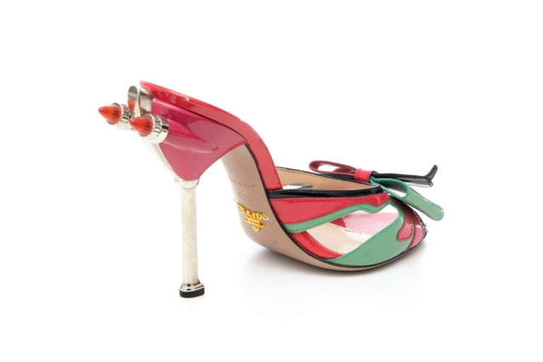 Prada Runway Patent Leather Tail Light Sandal, Spring 2012 For Sale 4
