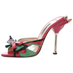 Prada Runway Patent Leather Tail Light Sandal, Spring 2012