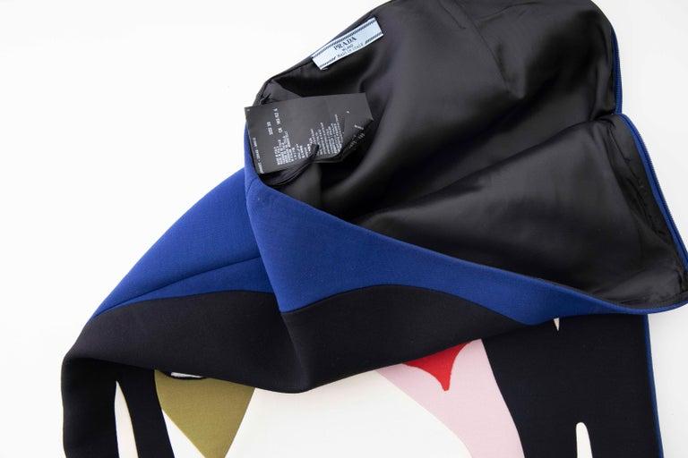 Prada Runway Virgin Wool Silk Bead Embroidery Pencil Skirt, Spring 2014 For Sale 8