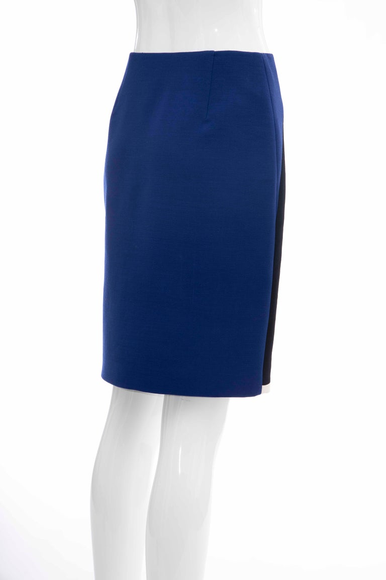 Prada Runway Virgin Wool Silk Bead Embroidery Pencil Skirt, Spring 2014 For Sale 2