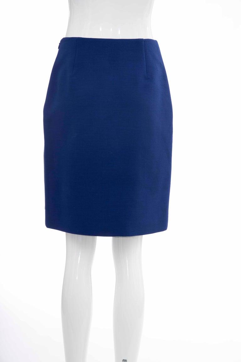 Prada Runway Virgin Wool Silk Bead Embroidery Pencil Skirt, Spring 2014 For Sale 3