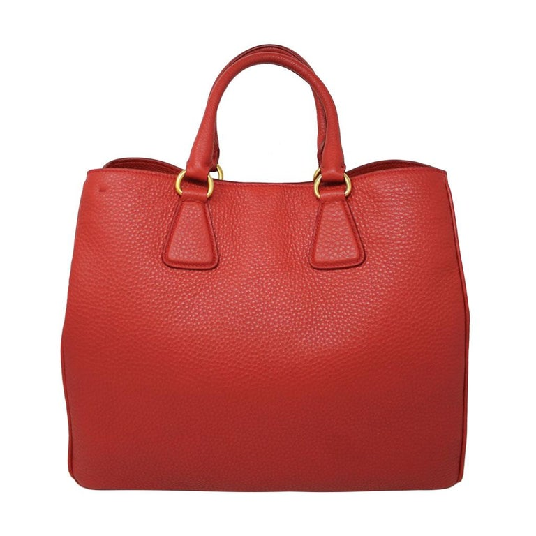 9afede67a442 Brand  Prada Style  Tote Materials  Red leather Handles  Rolled handles  5