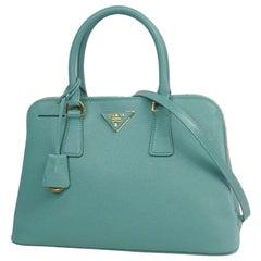PRADA Saffiano 2WAY shoulder bag Womens handbag BL0837 Light blue x gold hardwar