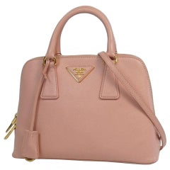 PRADA Saffiano 2WAY shoulder bag Womens handbag BL0838 pink x gold hardware