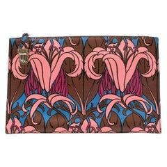 Prada Saffiano Floral Print Clutch