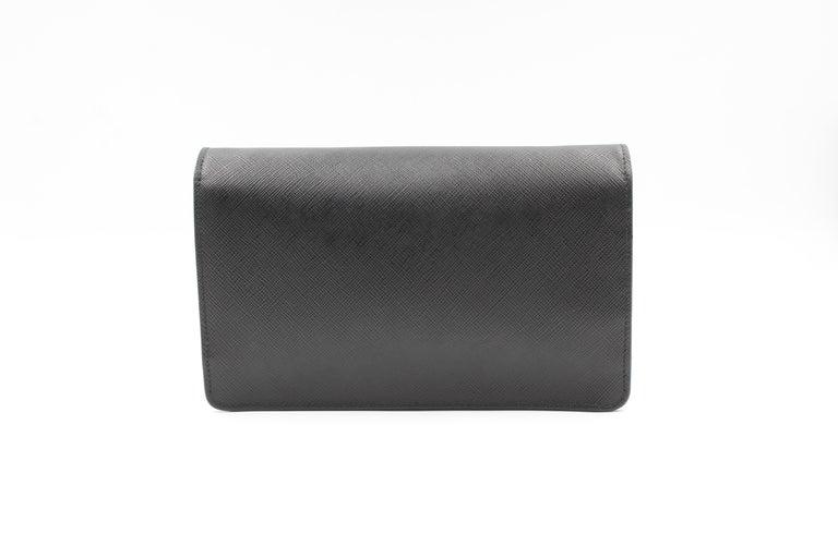 Prada Saffiano Galleria Black Leather Cross body Ladies Bag 1BH009 F0002 For Sale 2