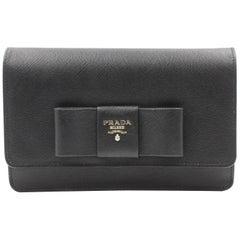 Prada Saffiano Galleria Black Leather Cross body Ladies Bag 1BH009 F0002