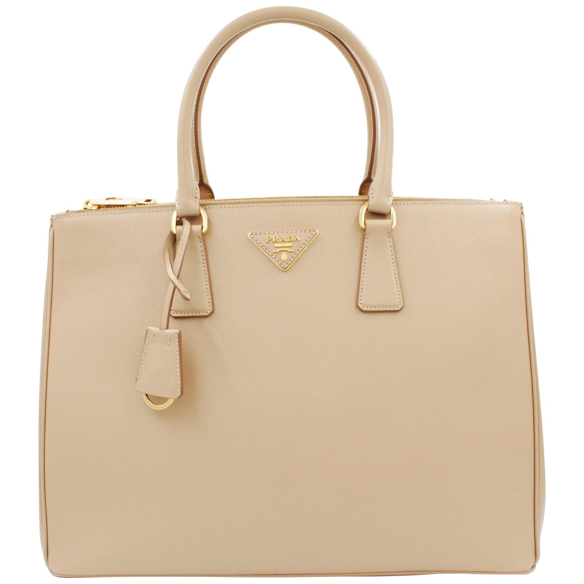 PRADA Saffiano Lux Galleria Beige Leather Ladies Tote 1BA786NZV