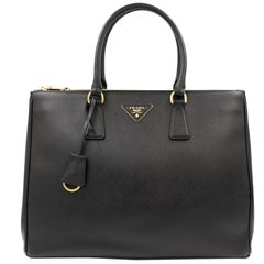 PRADA Saffiano Lux Galleria Black Leather Ladies Tote 1BA786NZV