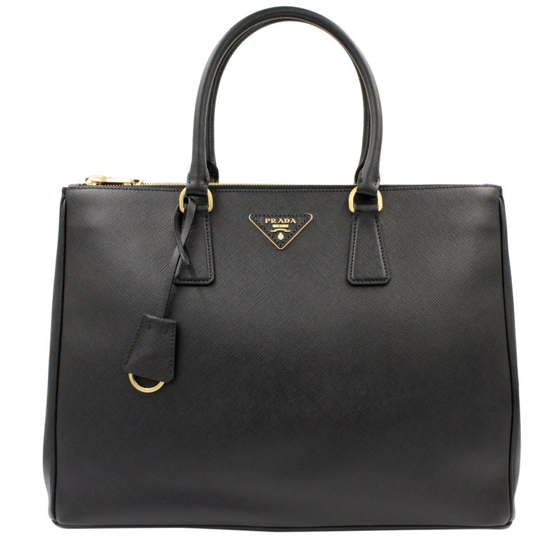 PRADA Saffiano Lux Galleria Black Leather Ladies Tote 1BA786NZV For Sale