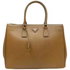 PRADA Saffiano Lux Galleria Brown Leather Ladies Tote 1BA786NZV