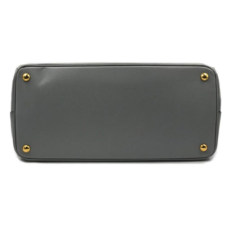 PRADA Saffiano Lux Galleria Gray Leather Ladies Tote 1BA786NZV For Sale 1