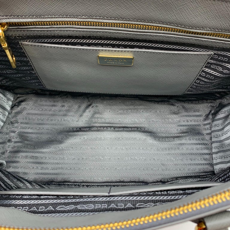 PRADA Saffiano Lux Galleria Gray Leather Ladies Tote 1BA786NZV For Sale 2