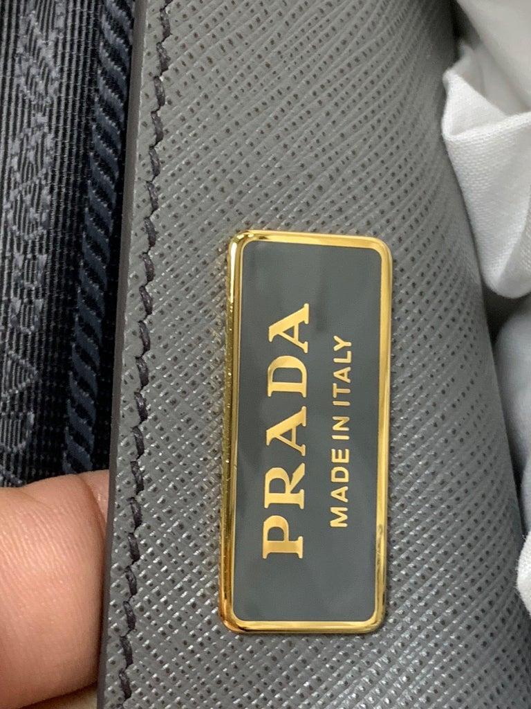 PRADA Saffiano Lux Galleria Gray Leather Ladies Tote 1BA786NZV For Sale 3