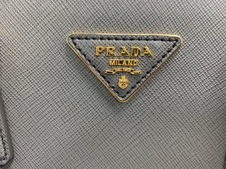 PRADA Saffiano Lux Galleria Gray Leather Ladies Tote 1BA786NZV For Sale 4