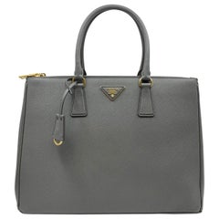 PRADA Saffiano Lux Galleria Gray Leather Ladies Tote 1BA786NZV