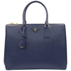 PRADA Saffiano Lux Galleria Navy Blue Leather Ladies Tote 1BA786NZV