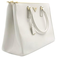 b56eb53b5c9c PRADA Saffiano Lux Galleria White Leather Ladies Tote 1BA786NZV