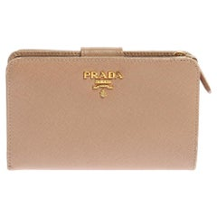 Prada Saffiano Lux Leather Wallet French Flap Wallet