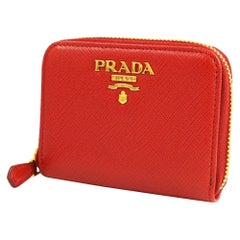 PRADA Saffiano Womens coin case 1 MM268 red