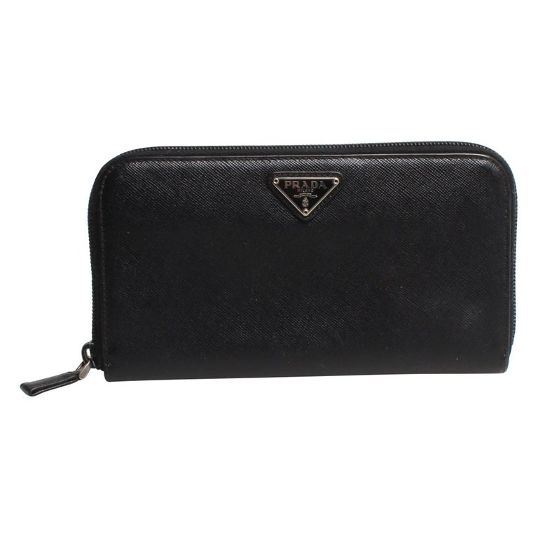 PRADA Saffiano Zip Wallet For Sale