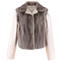 Prada Satin & Mink Fur Paneled Jacket - Size US 8