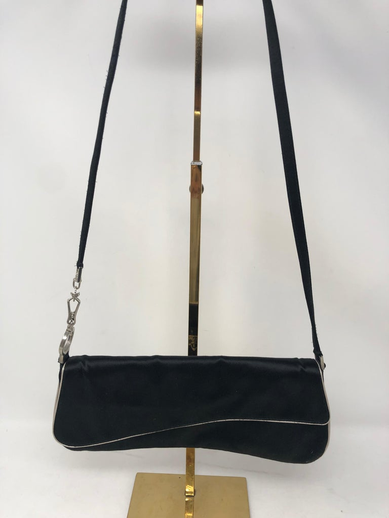 66c3fa344e6a Prada Satin Shoulder Bag  Clutch In Excellent Condition For Sale In Athens