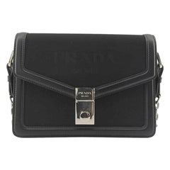 PRADA Shoulder bag in Black Canvas