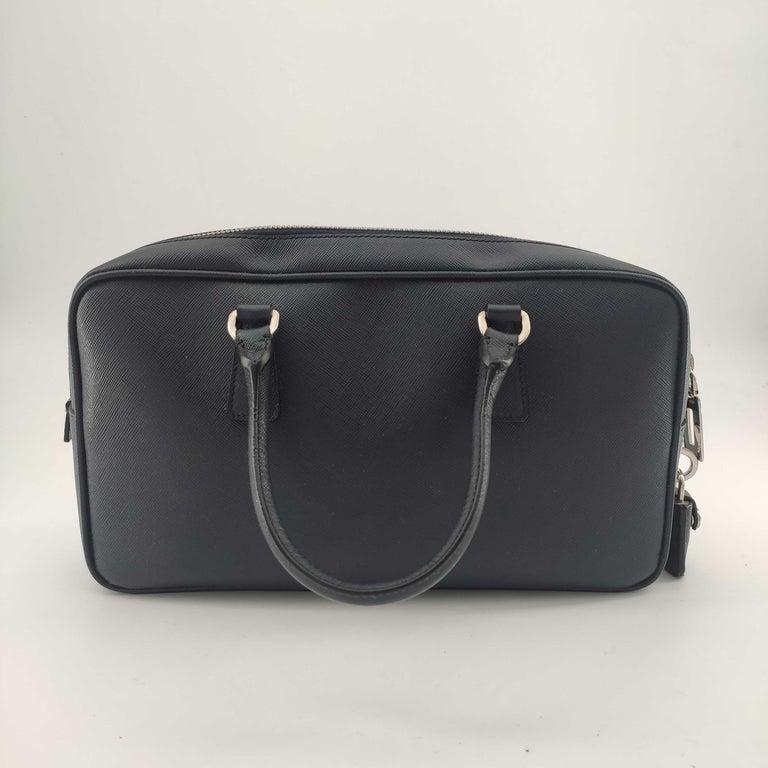 Black PRADA Shoulder bag in Blue Leather For Sale