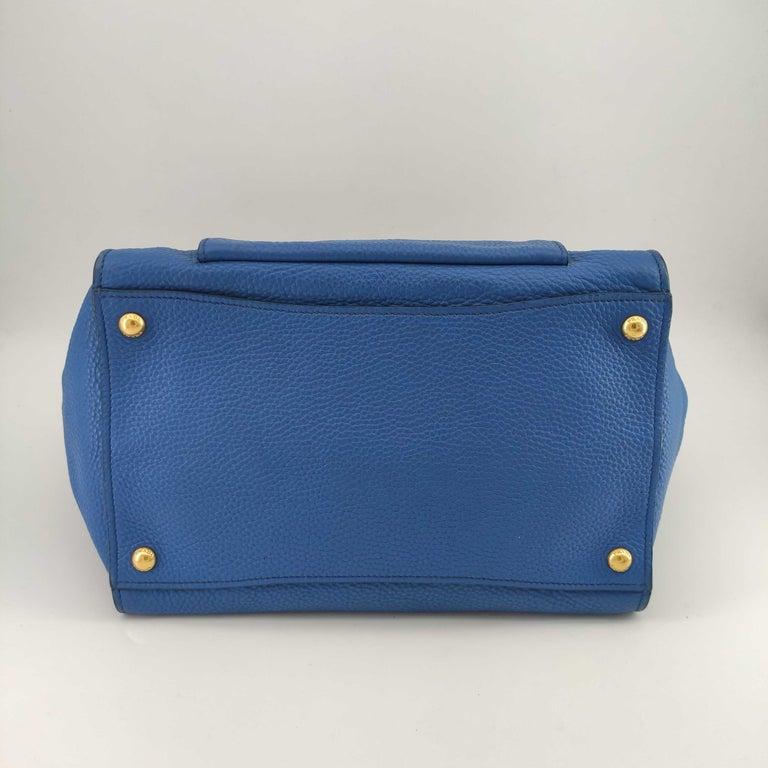 Women's PRADA Shoulder bag in Blue Leather For Sale