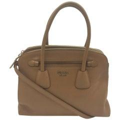PRADA Shoulder bag in Brown Leather