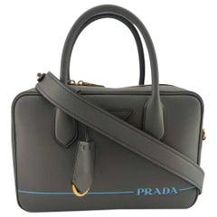 PRADA Shoulder bag in Grey Leather