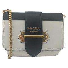 PRADA Shoulder bag in White Leather