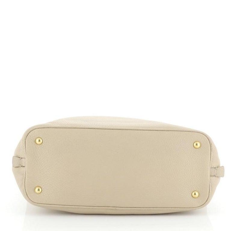 Women's or Men's Prada Side Zip Convertible Tote Vitello Daino Large  For Sale
