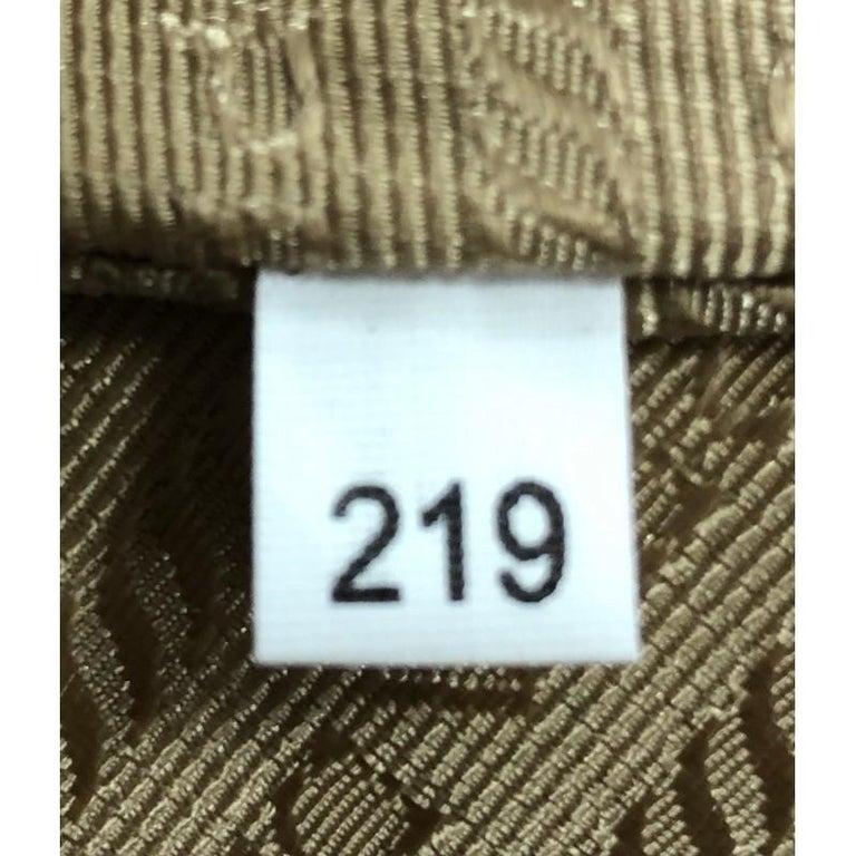Prada Side Zip Convertible Tote Vitello Daino Large  For Sale 3