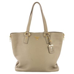 Prada Side Zip Shopper Tote Vitello Daino Large