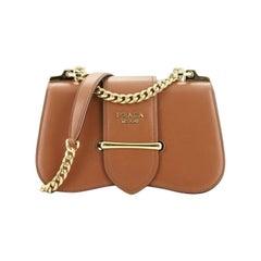 Prada Sidonie Chain Shoulder Bag City Calf Medium