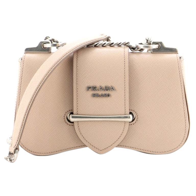 Prada Sidonie Chain Shoulder Bag Saffiano Leather Medium For Sale