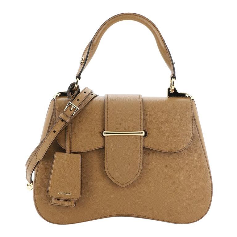 Prada Sidonie Top Handle Bag Saffiano Leather Large For Sale