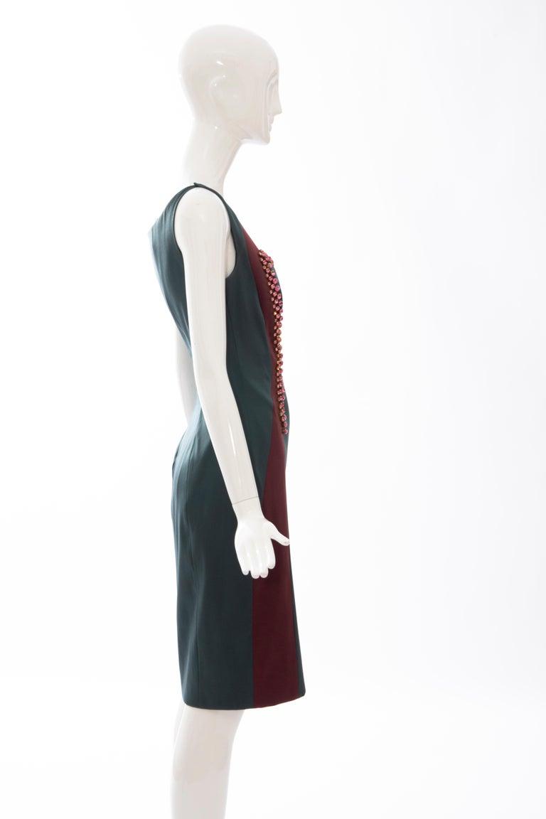 Women's Prada Silk Satin Embroidered Swarovski Crystal Evening Dress, Spring 2012 For Sale