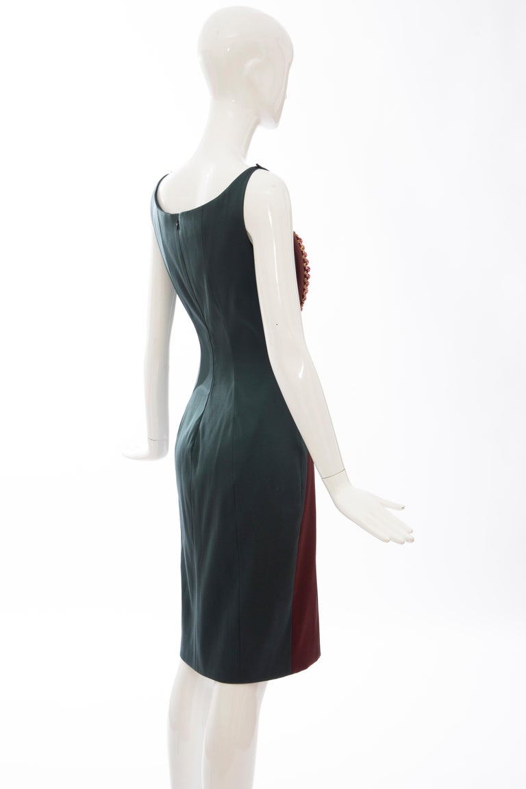 Prada Silk Satin Embroidered Swarovski Crystal Evening Dress, Spring 2012 For Sale 1