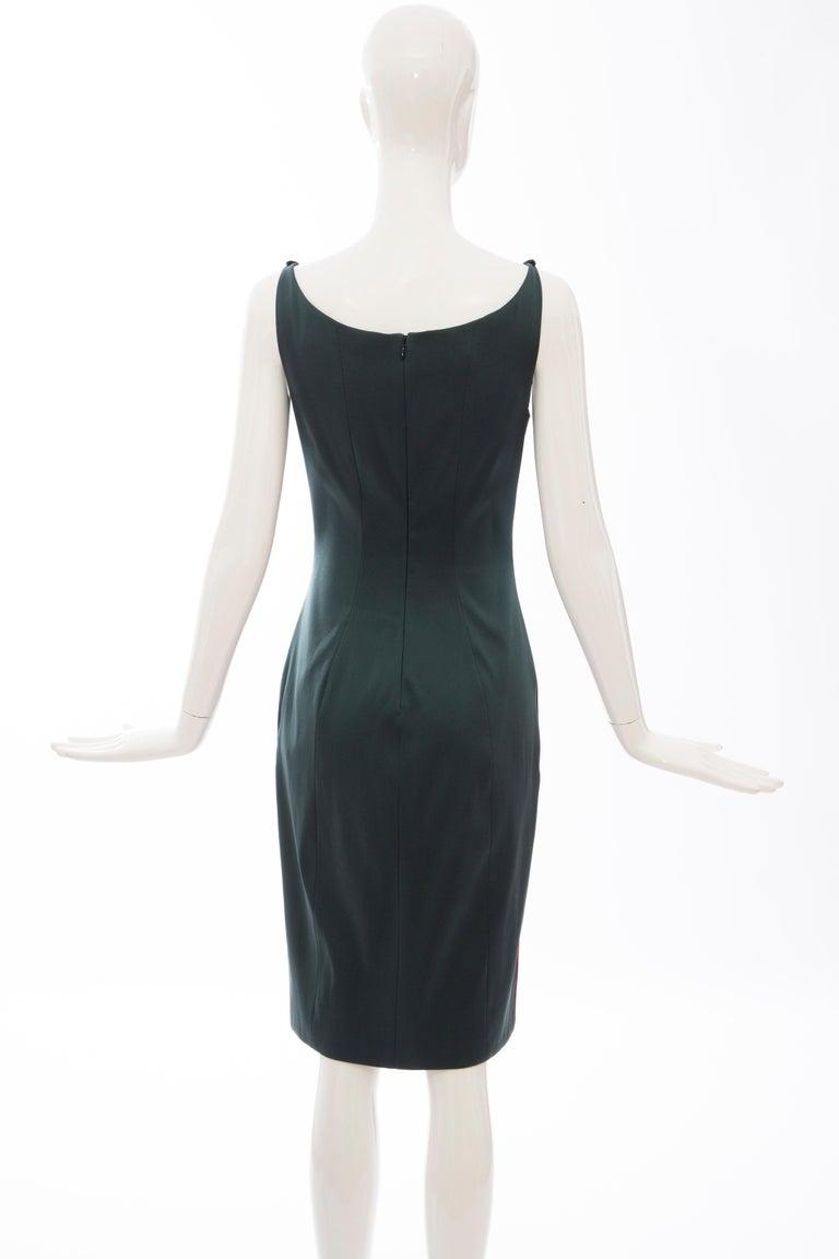 Prada Silk Satin Embroidered Swarovski Crystal Evening Dress, Spring 2012 For Sale 2