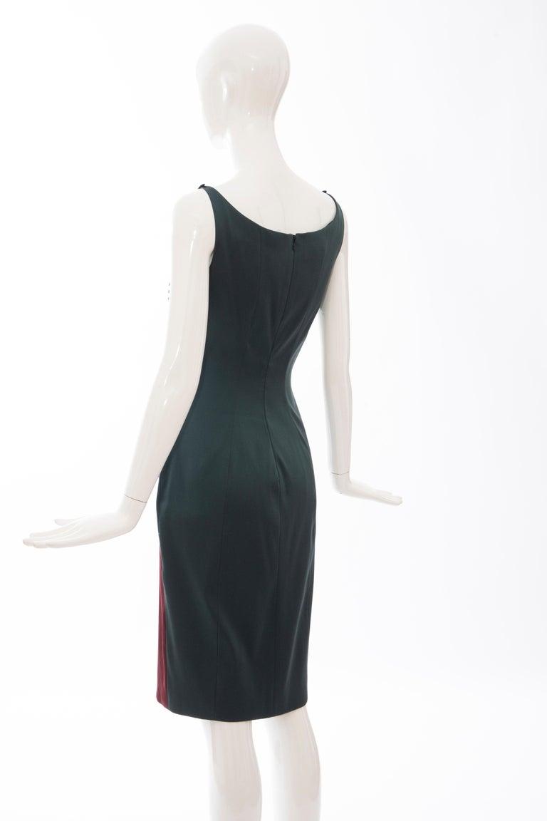 Prada Silk Satin Embroidered Swarovski Crystal Evening Dress, Spring 2012 For Sale 3
