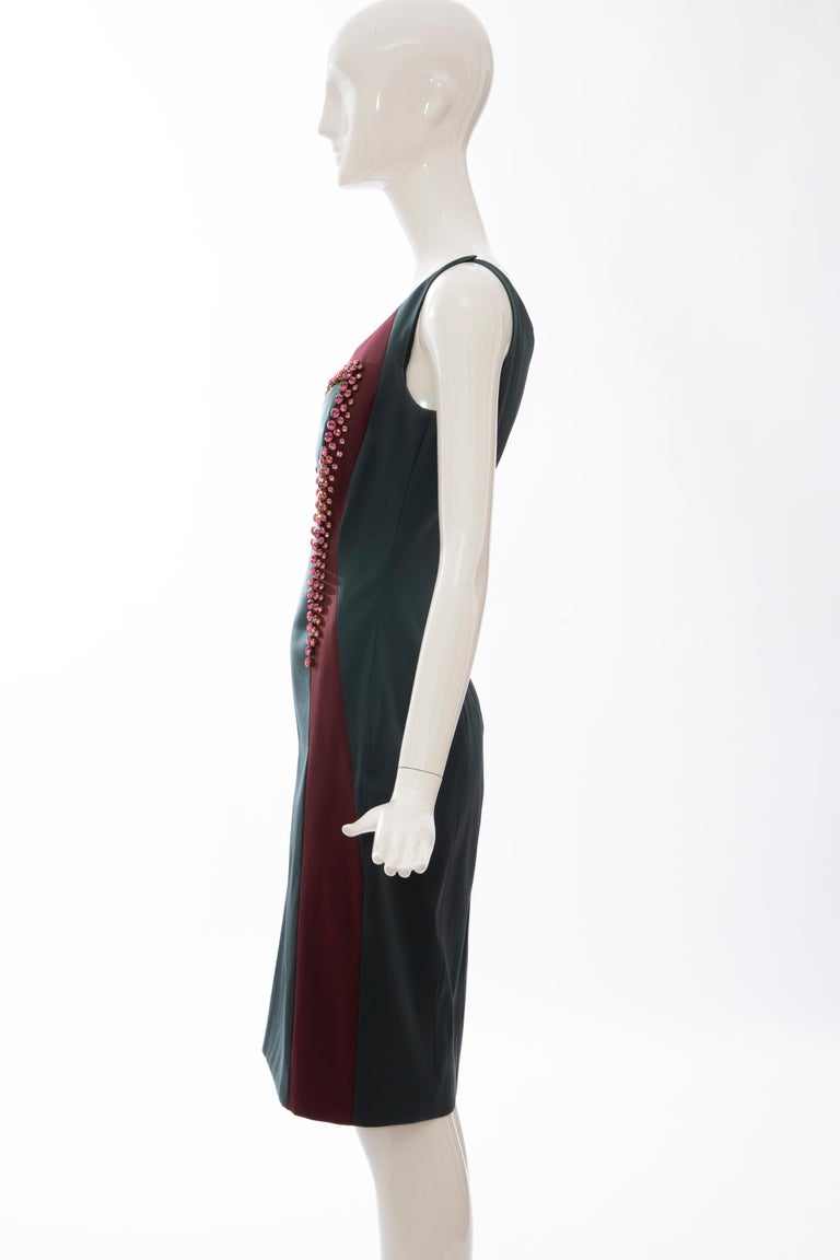 Prada Silk Satin Embroidered Swarovski Crystal Evening Dress, Spring 2012 For Sale 4