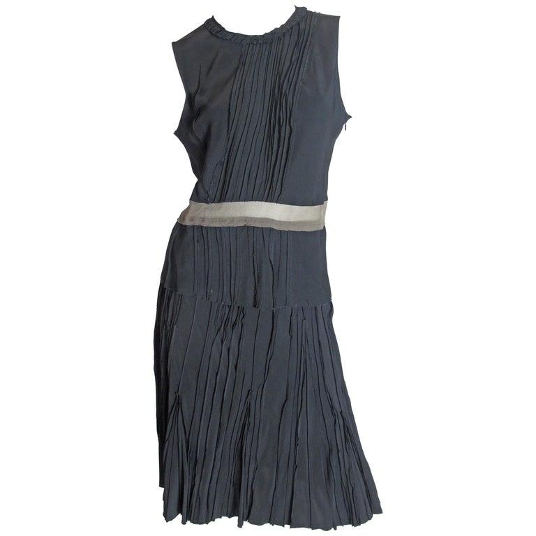 Prada silk top and skirt, 1990s For Sale