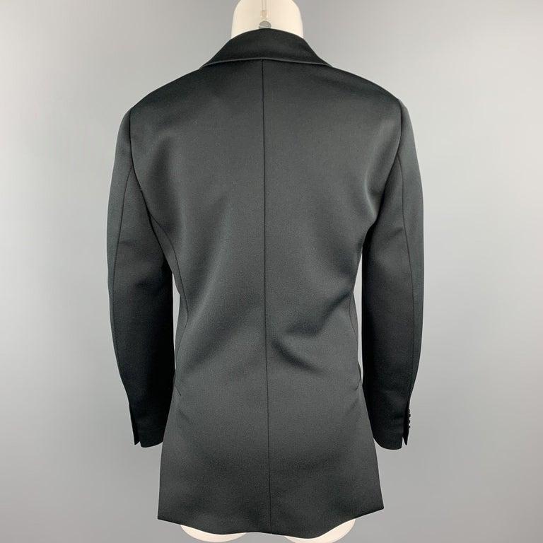 Women's PRADA Size 0 Black Polyester Notch Lapel Oversized Blazer For Sale
