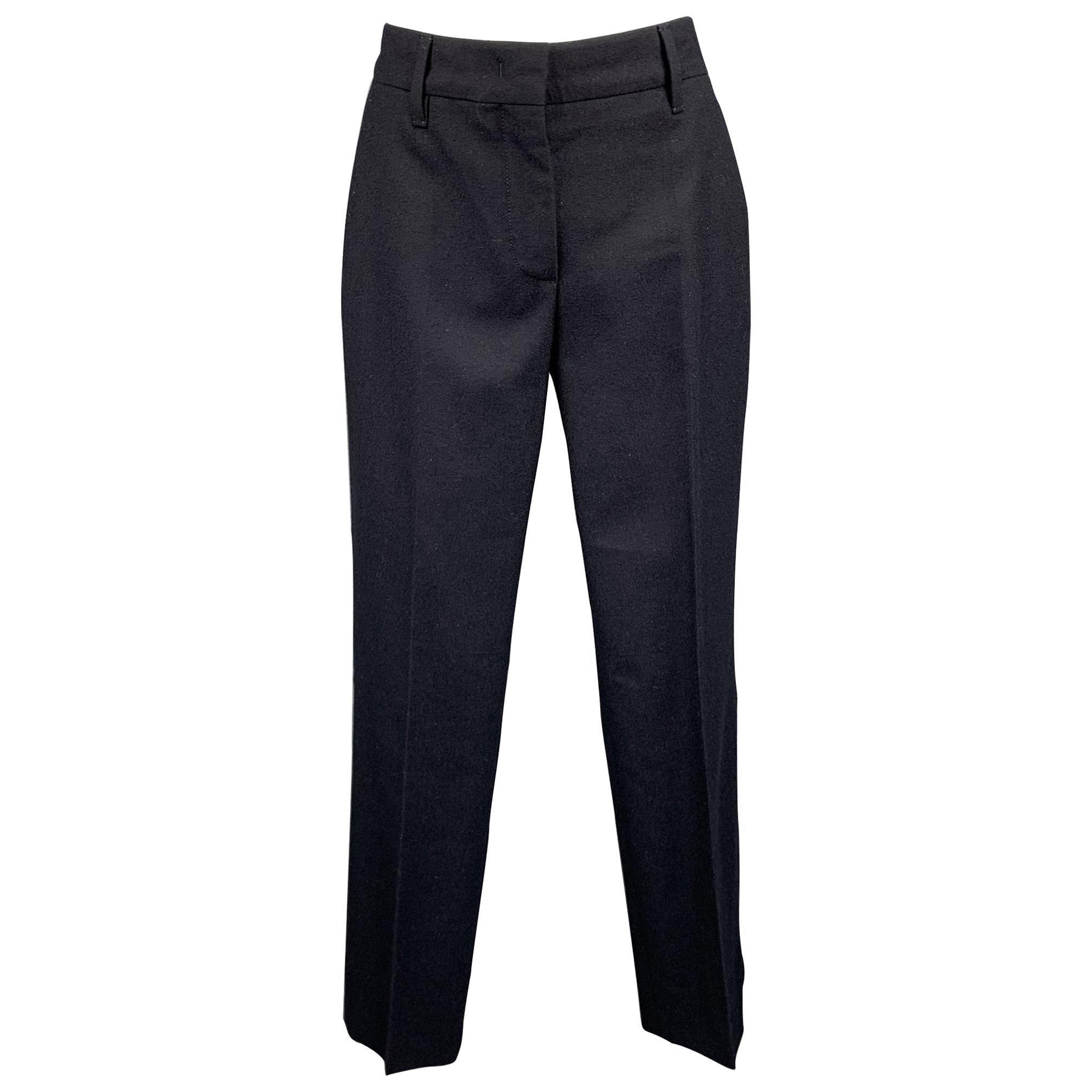 PRADA Size 2 Navy Virgin Wool Dress Pants